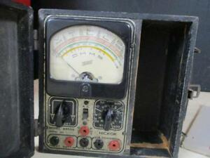 Vintage 1930 s Hickok Volt ohm milliamp re meter 4955 s Orig Box