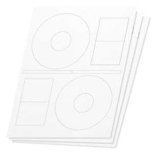 Stomper Pro Compatible Full Face Disc Cd Dvd Labels Laser Inkjet Printer 4000pcs