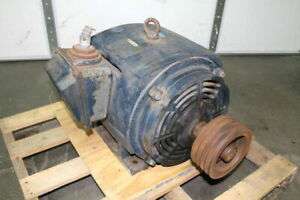 Leeson 50hp Electric Motor 1750 Rpm 326t Frame 208 460v N 326t17db2
