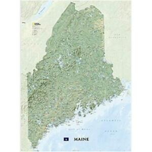 National Geographic Maps Re01020521 Maine Wall Map