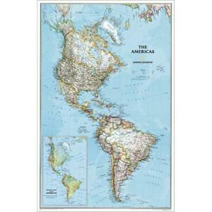 National Geographic Re00602809 Map Of The Americas