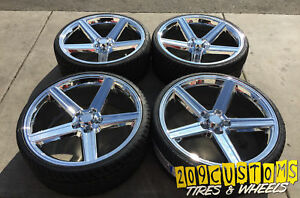 20 Iroc S248 Chrome Rims Wheels Tires 20x8 5 5x120 10 Free Shipping