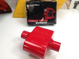 Cherry Bomb Muffler 2 5 Inlet Outlet Single Chamber Performance