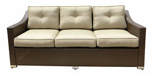 World Wide Wicker Tampa Patio Sofa With Cushions