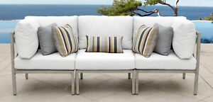 Tk Classics Carlisle Patio Sofa With Cushions White