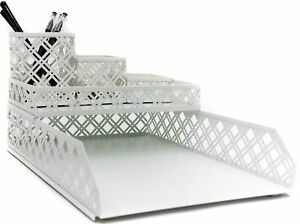 Wrought Studio Germania 5 Piece Desk Organizer Set White