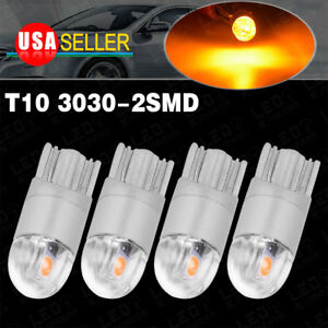 4x T10 3030led Amber Yellow High Power Dome Map Interior Light Bulb 192 194 2825