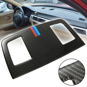 For Bmw E90 E92 3 Series 05 12 Carbon Fiber Dashboard Air Outlet Vent Cover Trim