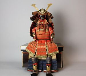 Excellent Dated Set Of Doll Samurai Armor Taisho 5 1906 S53