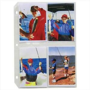 C line Products 35mm Ring Binder Photo Storage Pages 3 5x5 50 bx Set Of 2 Bx