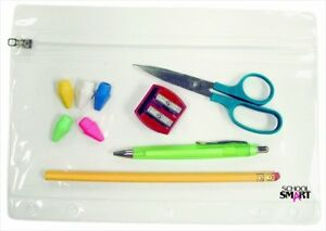 School Smart Vinyl Zippered Ring Binder Pouch For 7x10in assorted Color Pack 24