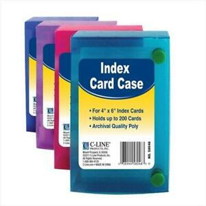 C line Products 4 X 6 Index Card Case Assorted Color May Vary Set Of 12