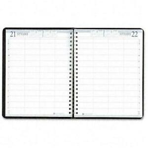 House Of Doolittle 4 person Group Practice Daily Appointment Book 8x11 Black