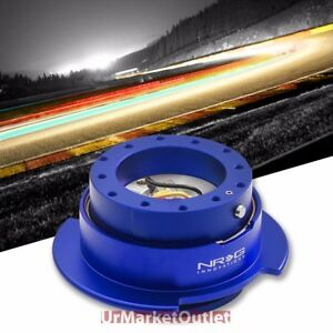 Nrg Blue Gen 2 5 Race Steering Wheel Quick Release Adapter 6 hole Design