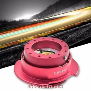 Nrg Pink Gen 2 5 Race Steering Wheel Quick Release Adapter 6 Hole Design