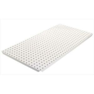 Alligator Board White Powder Coated Metal Pegboard Panels With Flange Pack Of 2