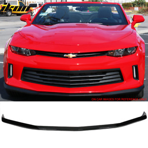 Fits 16 18 Chevy Camaro V6 2 Door Oe Front Bumper Lip Painted Black Wa8555