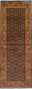 Hand Knotted Persian 3 7 X 9 11 Mahal Vintage Wool Rug