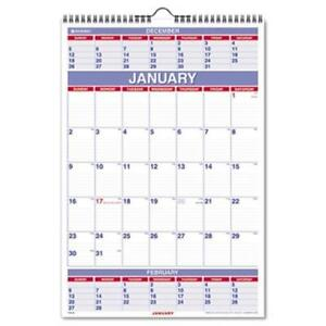 At a glance Three months per page Wall Calendar Ruled Daily Blocks 15 1 2x22 3 4