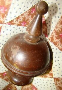 Antique Victorian Solid Wood Finial Architectural French Newel Post Stair Old
