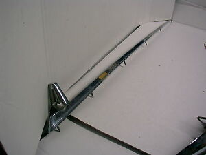 1964 Plymouth Chrome Hood Center Trim With Hood Ornament L k