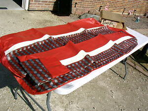 1965 1966 Mercury Ford 4 Door Seat Covers Nice Red Design Missing Rear Cushion