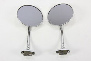 2 Vintage Car Truck Exterior Side Rear View Mirrors Vehicle 4 Diam Clamp on