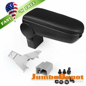 Us Black Leatherette Front Center Console Armrest Box For 1999 04 Vw Golf Jetta