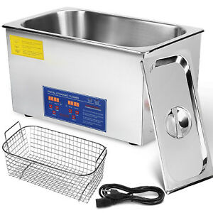 30l Industry Digital Ultrasonic Cleaner Heater Timer Stainless Jewel Clean Tank