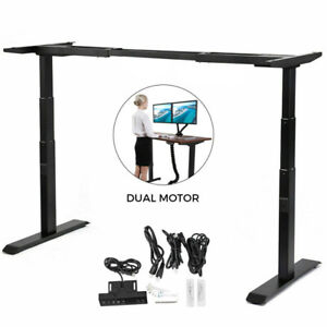 Electric Sit stand Standing Desk Frame Dual Motor Workstation Office Heavy Duty