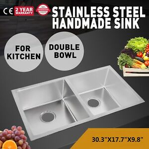 Commercial Wall Mount Kitchen Hand Wash Sink Stainless Steel