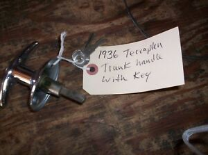Hudson Terraplane 1936 Coupe Nos Trunk Handle With Keys
