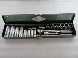 Classic S K Tools 3 8 Drive Sae Socket Set Case Made In Usa