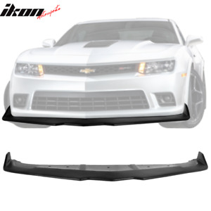 Fits 14 15 Chevy Camaro Ss Ikon Style Front Bumper Lip Unpainted Pp