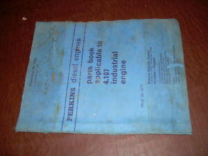 Perkins Cat 4 107 Diesel Engine Parts Manual 1965