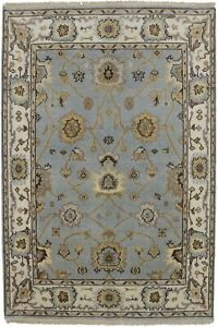 Delightful Handmade Foyer Chobi Oushak Indian Accent Rug Oriental Carpet 4x6