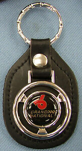 Vintage Buick Grand National Steering Wheel Black Leather Key Ring 1985 1986