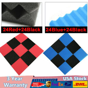 Red blue black Acoustic Foam Panel For Sound Recording Studio Ktv Home Theater
