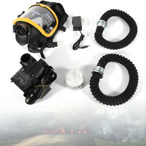 Constant Flow Air Gas Supplied Fresh Air Respirator System Full Face Mask