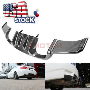 Us Rearl Carbon Fiber Rear Lower Bumper Diffuser Trim For 08 13 Bmw E92 M3 Coupe