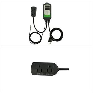 Thermostat Digital Temperature Controller Outlet 2 stage 1100w