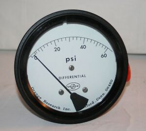 Orange Research 0 60 Psi 1 4 Npt Differential Pressure Gauge 1502dg 34749
