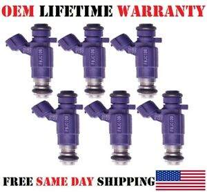 6pc Oem bosch Fuel Injectors For 2003 2004 Infiniti G35 3 5l Purple upgrade