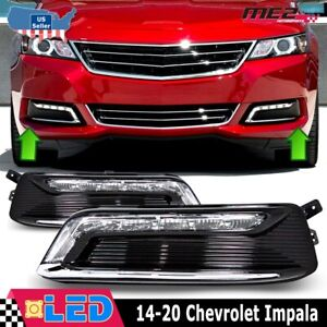 Winjet 2014 2017 Chevy Impala Drl Light Clear Pair Set Oe Style With Wiring Kit