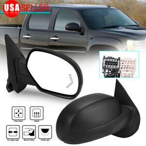 Side Mirror For 07 13 Silverado Sierra Power Heat Signal Puddle Passenger Right