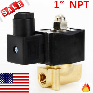 1 Ac 110v Brass Electric Solenoid Valve Gas Water Air N c High Quality Top