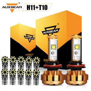 Auxbeam H11 H9 H8 Cree Led Headlight 10x T10 168 194 5730smd Chipset Led Lights