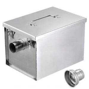 8lb 5gpm Grease Trap Interceptor Kitchen Wastewater Stainless Steel Us