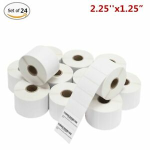 24 Rolls 2 25x1 25 Direct Thermal Shipping Labels 1000 roll For Zebra Lp2824