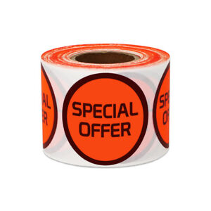Special Offer Sticker Promo Clearance Yard Garage Sale Labels 1 5 Round 10pk